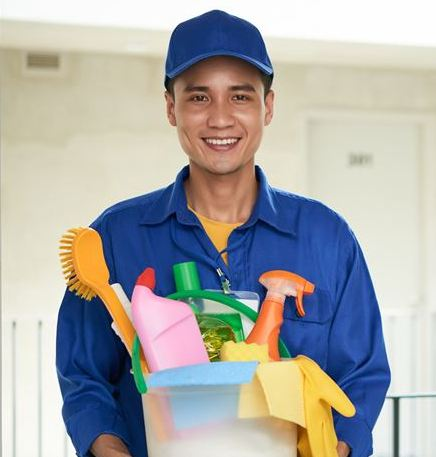 cleaning service man ghanim care malang